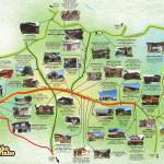 Mapa caminho do vinho