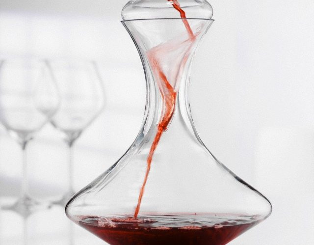 01 Jan 2004 --- Red wine being decanted --- Image by © alexander feig/the food passionates/Corbis
